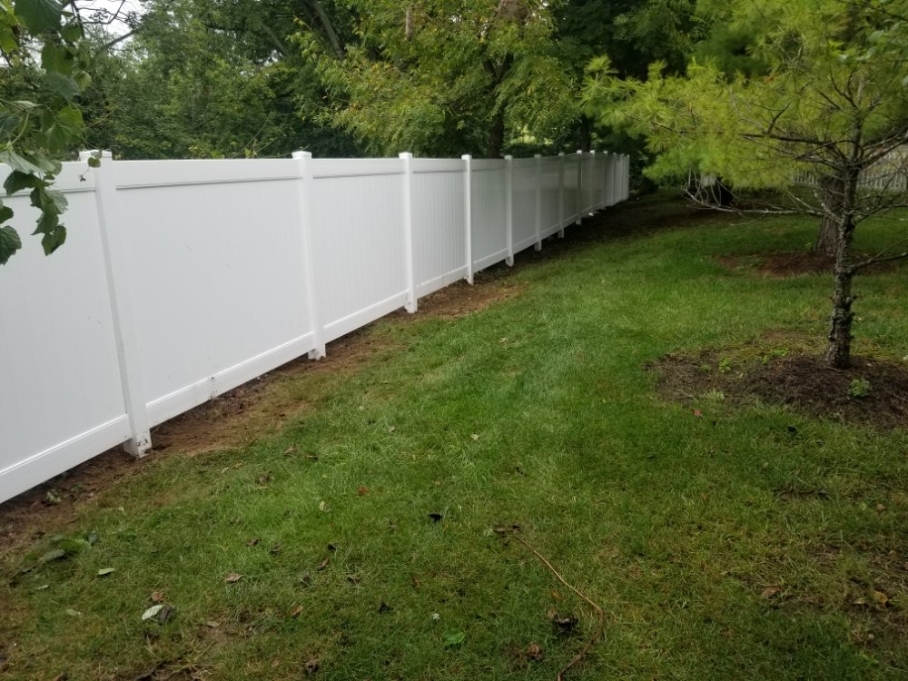 6ft White Vinyl PVC Fence in Owings Mills MD