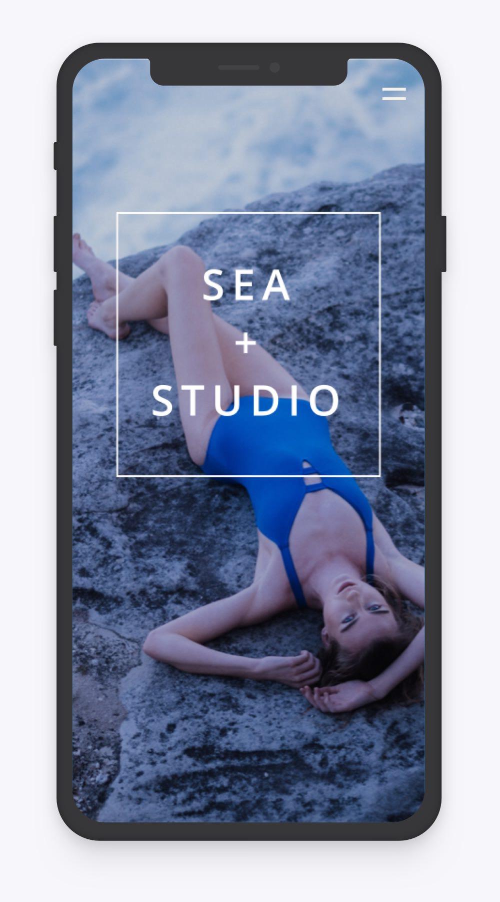 Mobile homepage design for pilates and yoga studio