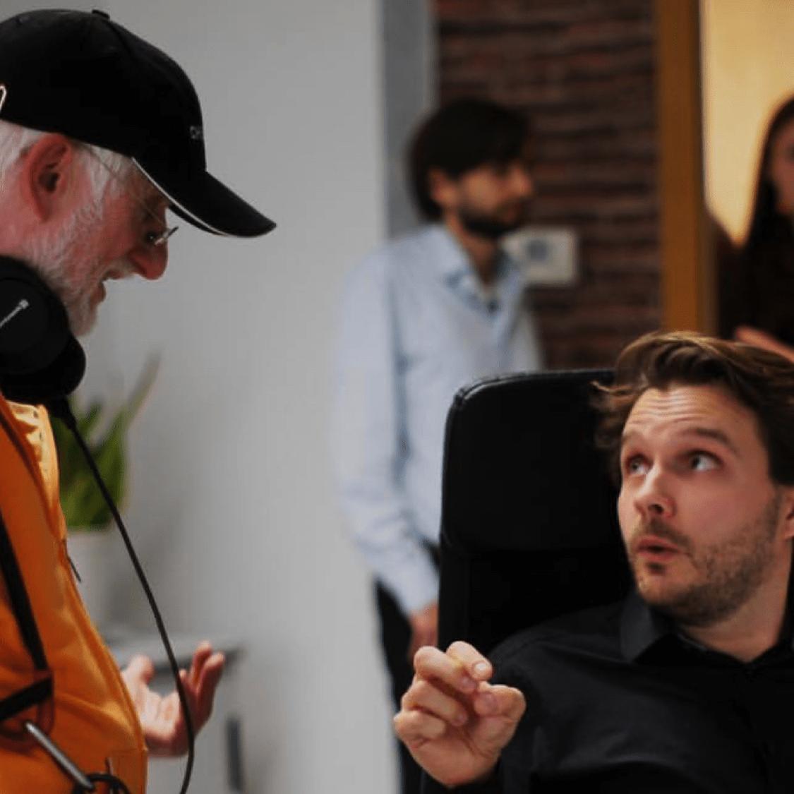 Simon beim Videodreh Galileo bei Biz Factory