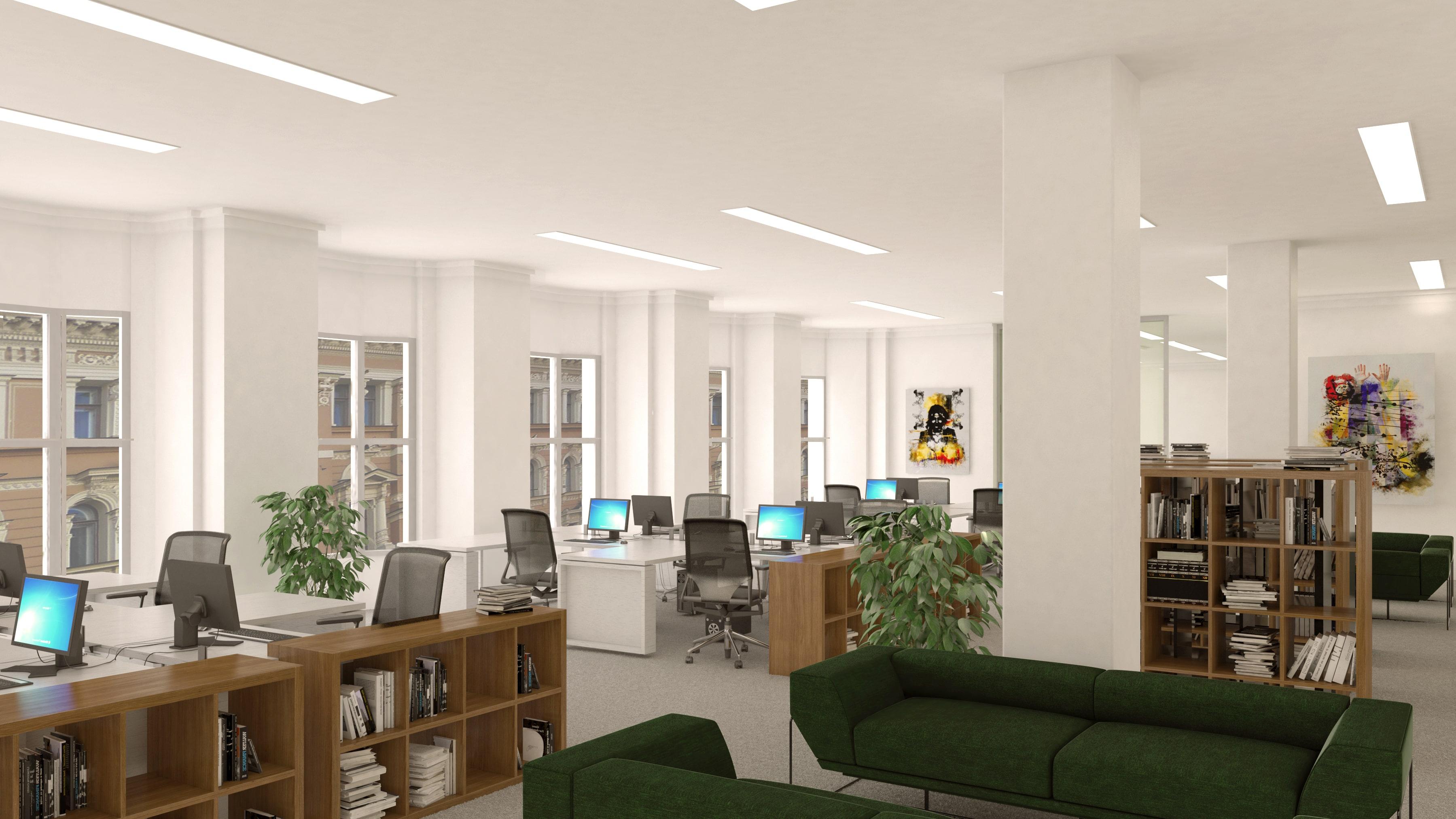 Neljännen kerroksen toimistotilat