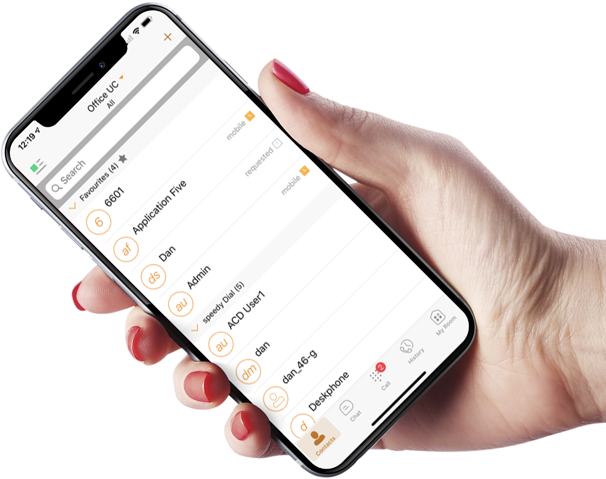VoIP phone system mobile app