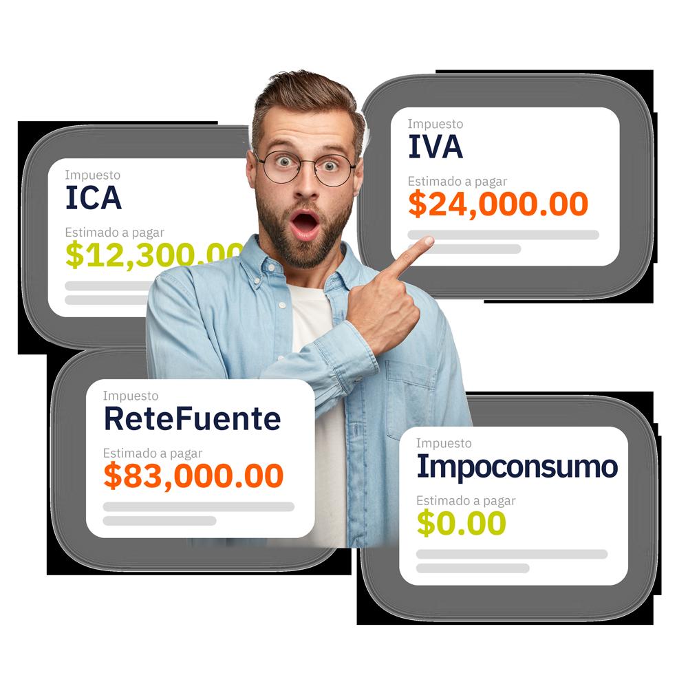 Despreocupate de multas ante la DIAN o el SAT, con Backstartup podrás estar siempre al día con tus impuestos y nómina