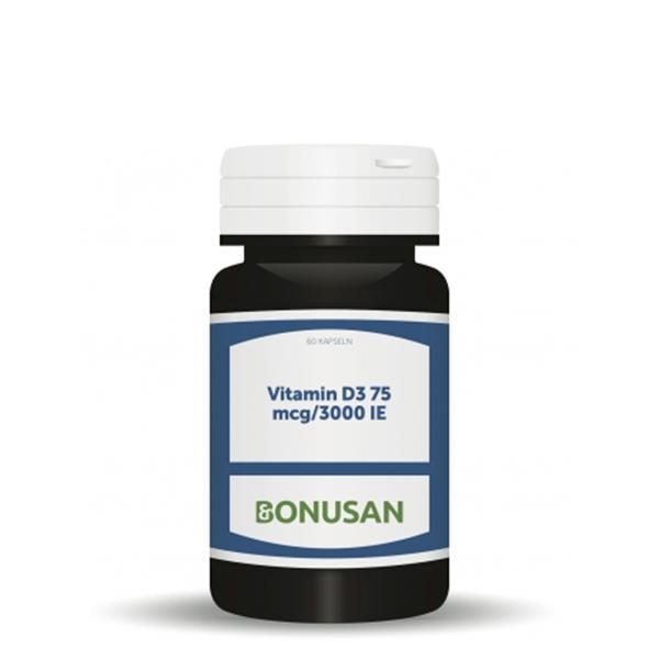Vitamin D3 - 75 mcg/3000 IE, 60 Stk. Softgel Kapseln