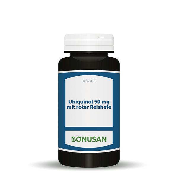 Ubiquinol 50 mg mit roter Reishefe, 60 Stk.