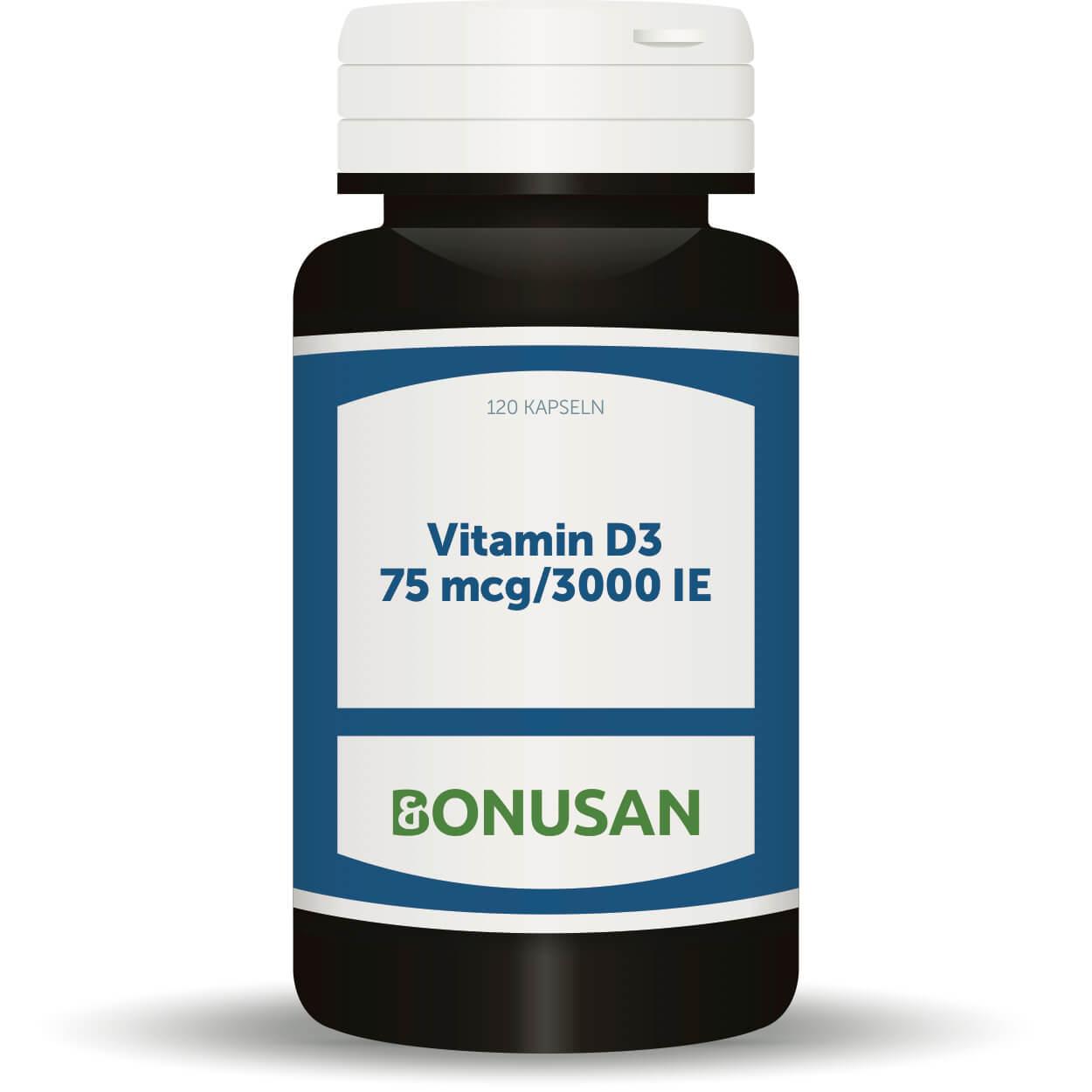 Vitamin D3 - 75 mcg/3000 IE, 120 Stk. Softgel Kapseln