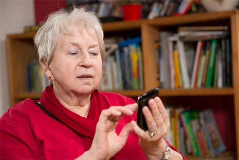 seniors using mobile app technology