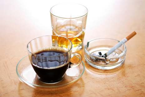 Avoid taking blood pressure after smoking, alcohol or coffee