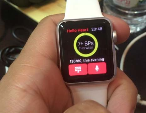 Type or speak your blood pressure into your Apple Watch