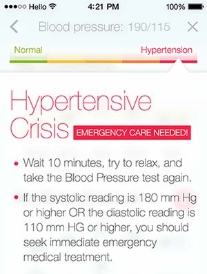 Hypertensive crises alerts you to stroke possibility