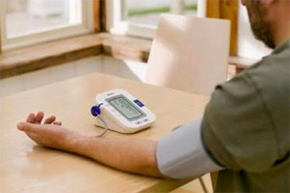 Correct body position to measure blood pressure
