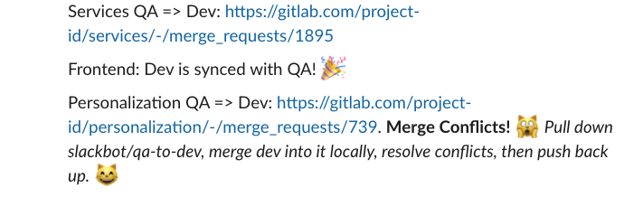 Slackbot to the Rescue: Keeping GitLab Branches in Sync with a Slackbot