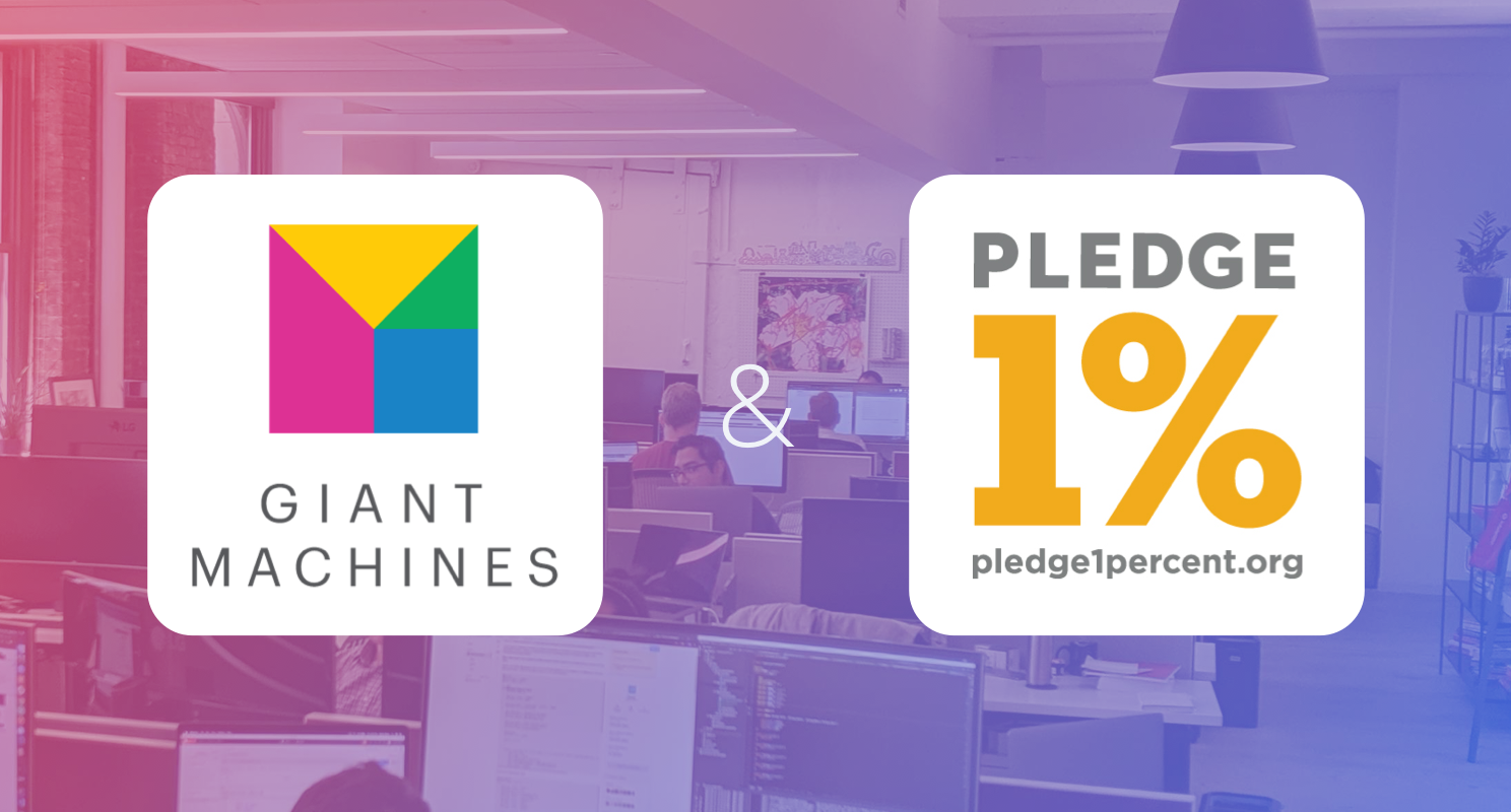 Giant Machines Joins the Pledge 1% Movement