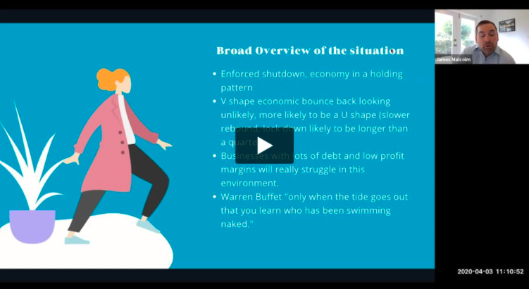 Screen shot of Tips From A Virtual CFO