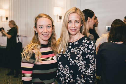 Teigan Margetts & Christie Whitehill at Mums & Co Stronger Together event in 2017
