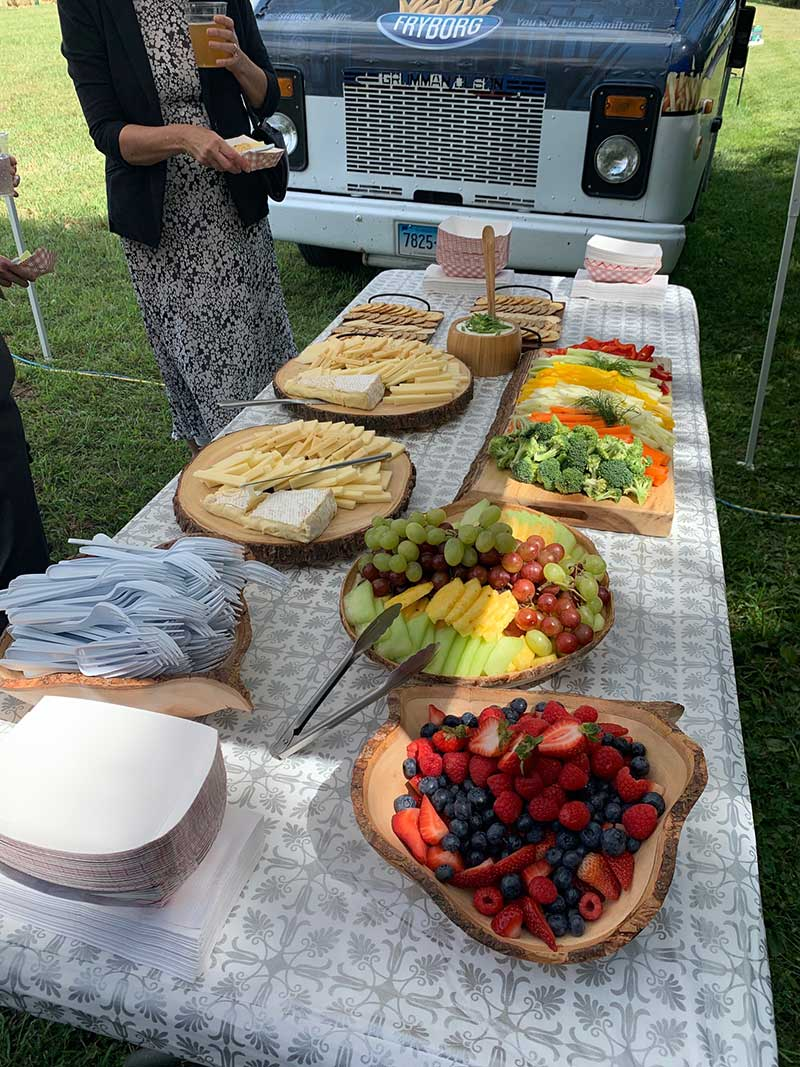 fryborg food truck catering spread