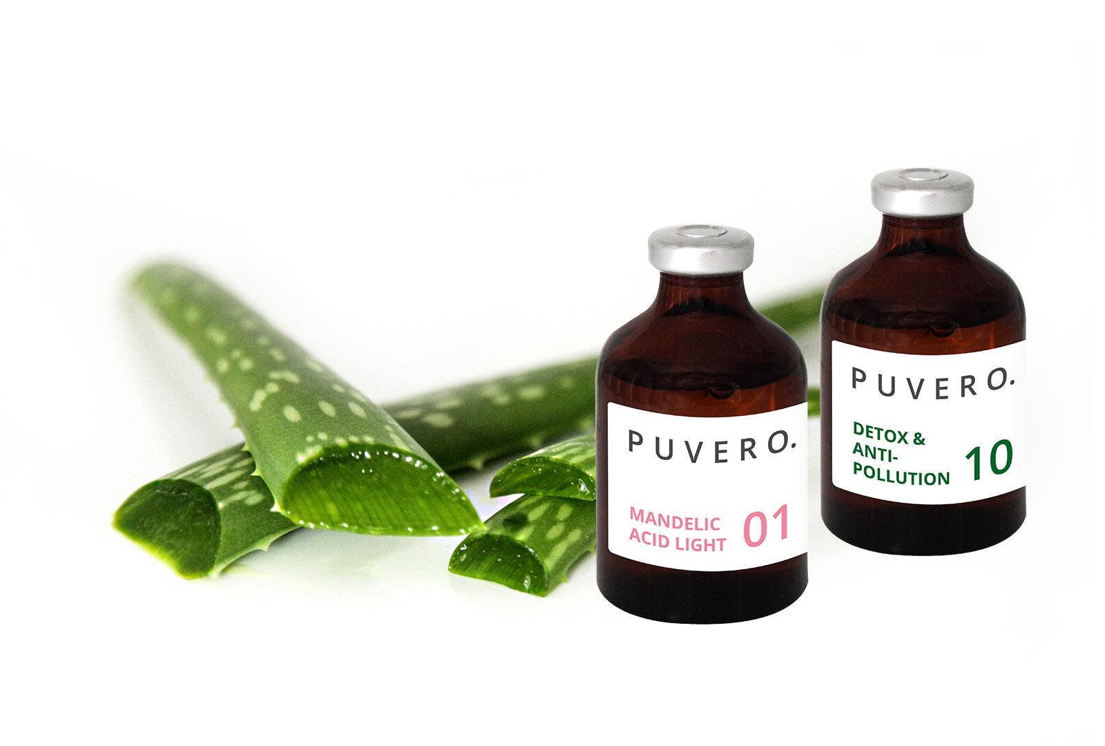 Active Agents Glasflasche mit Inhaltsstoff Aloe Vera