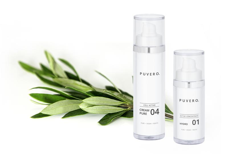 Puvero Produkte mit Inhaltsstoff Olivenzweig