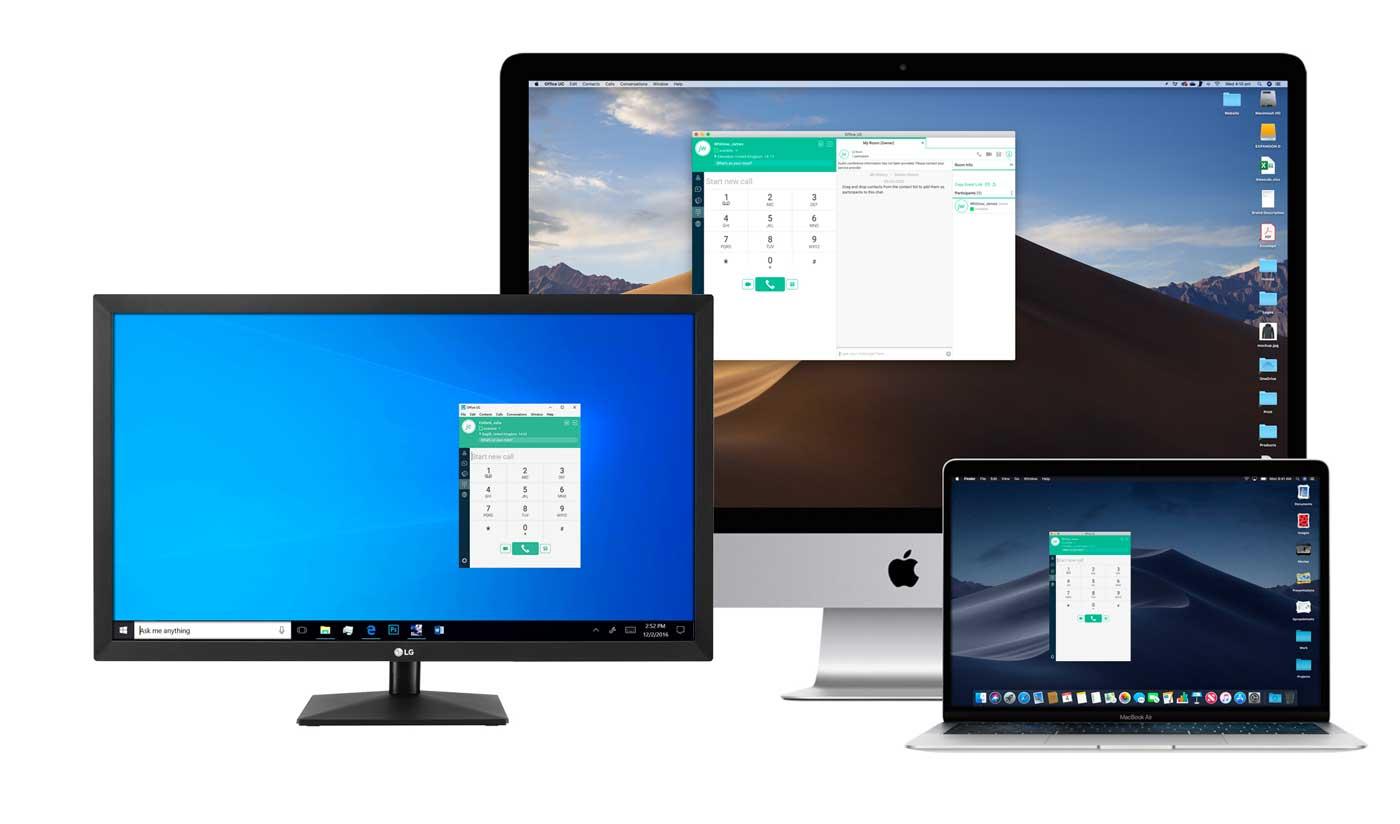 Desktop softphone app