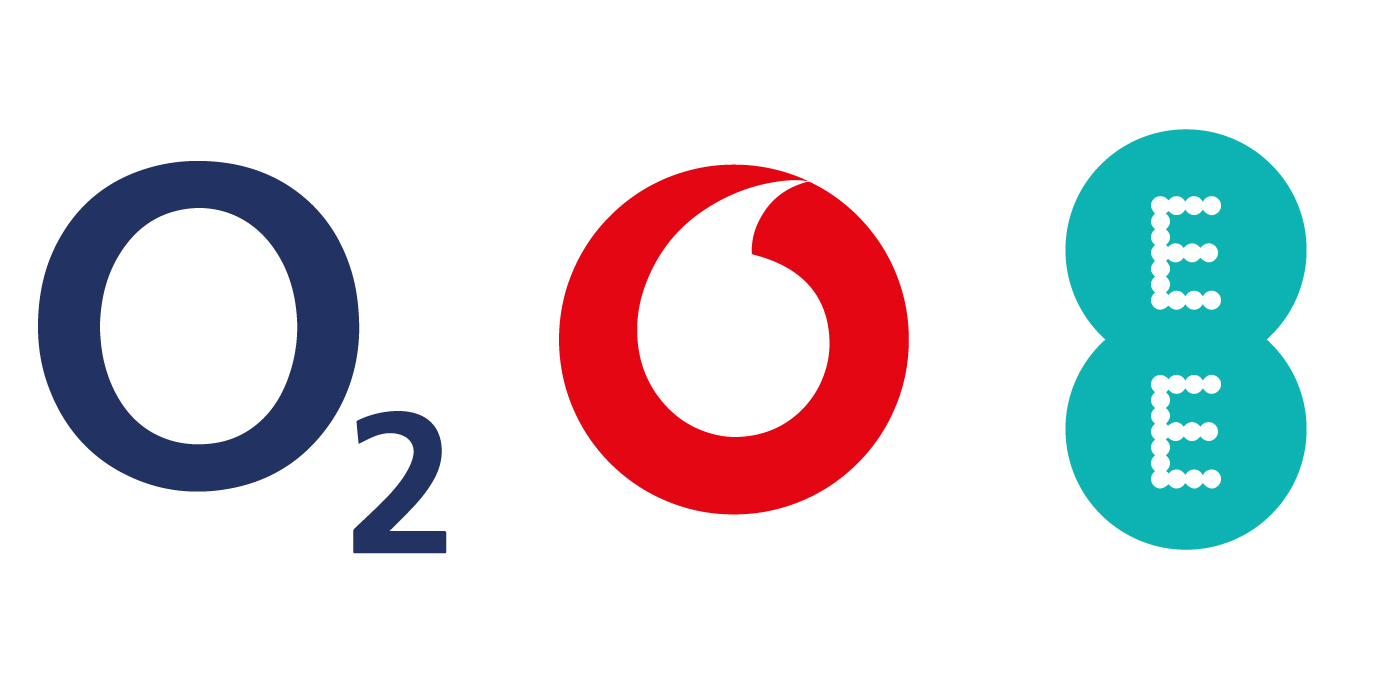 O2, Vodafone & EE mobile networks