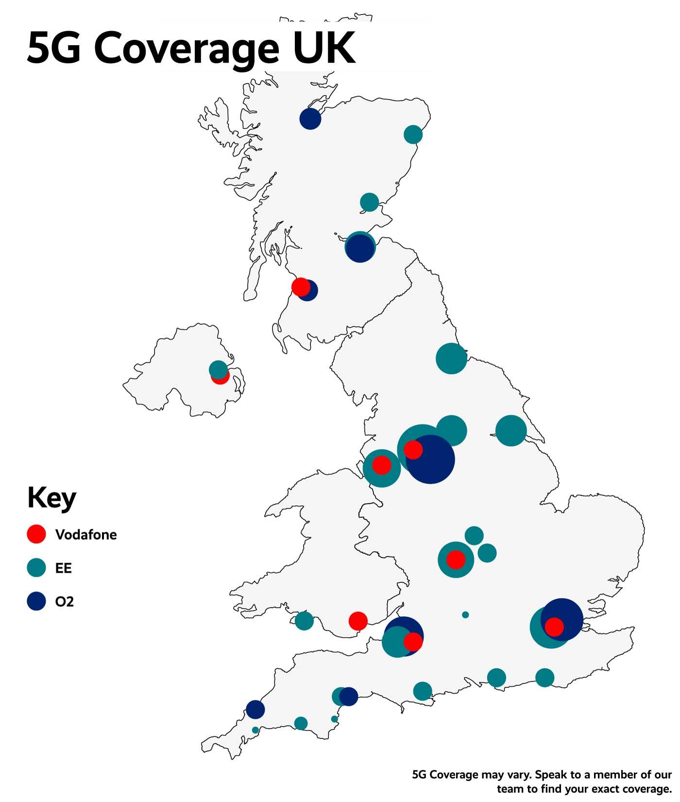 5G Coverage Map UK