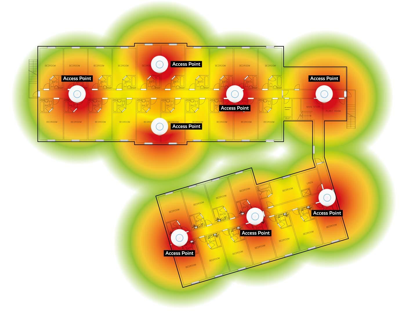 HotelWiFi Survey Heatmap