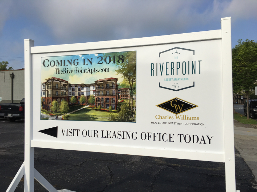 riverpoint apartments sign