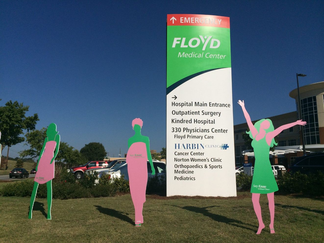 floyd medical wayfinding sign and cutouts