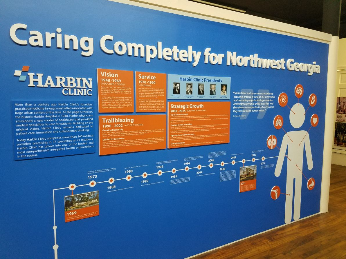 harbin clinic wall exhibit