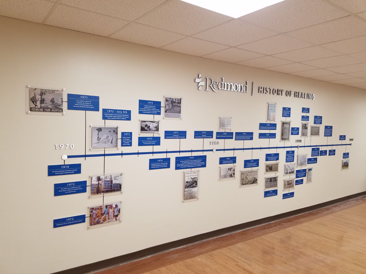 redmond hospital wall exhibit