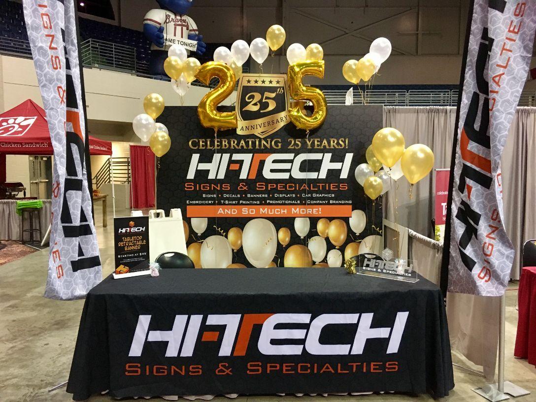 hi-tech sign trade show booth display