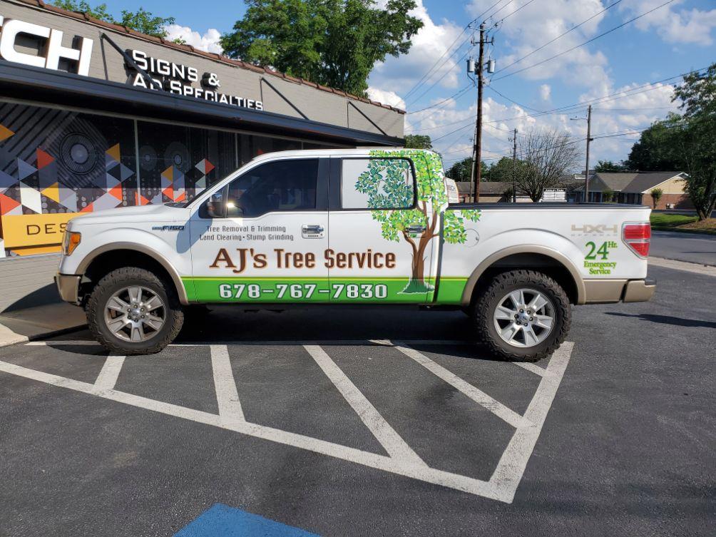 ajs tree service truck wrap