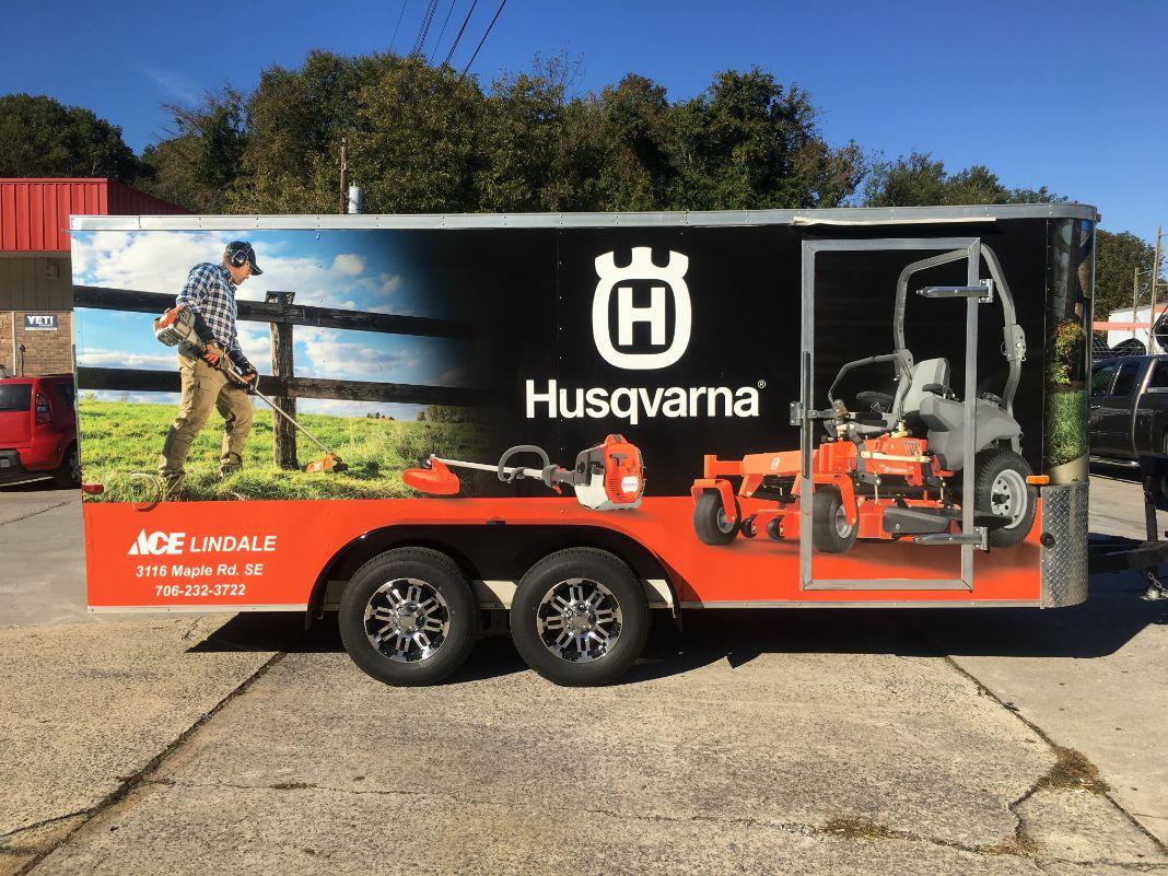 husqvarna trailer wrap