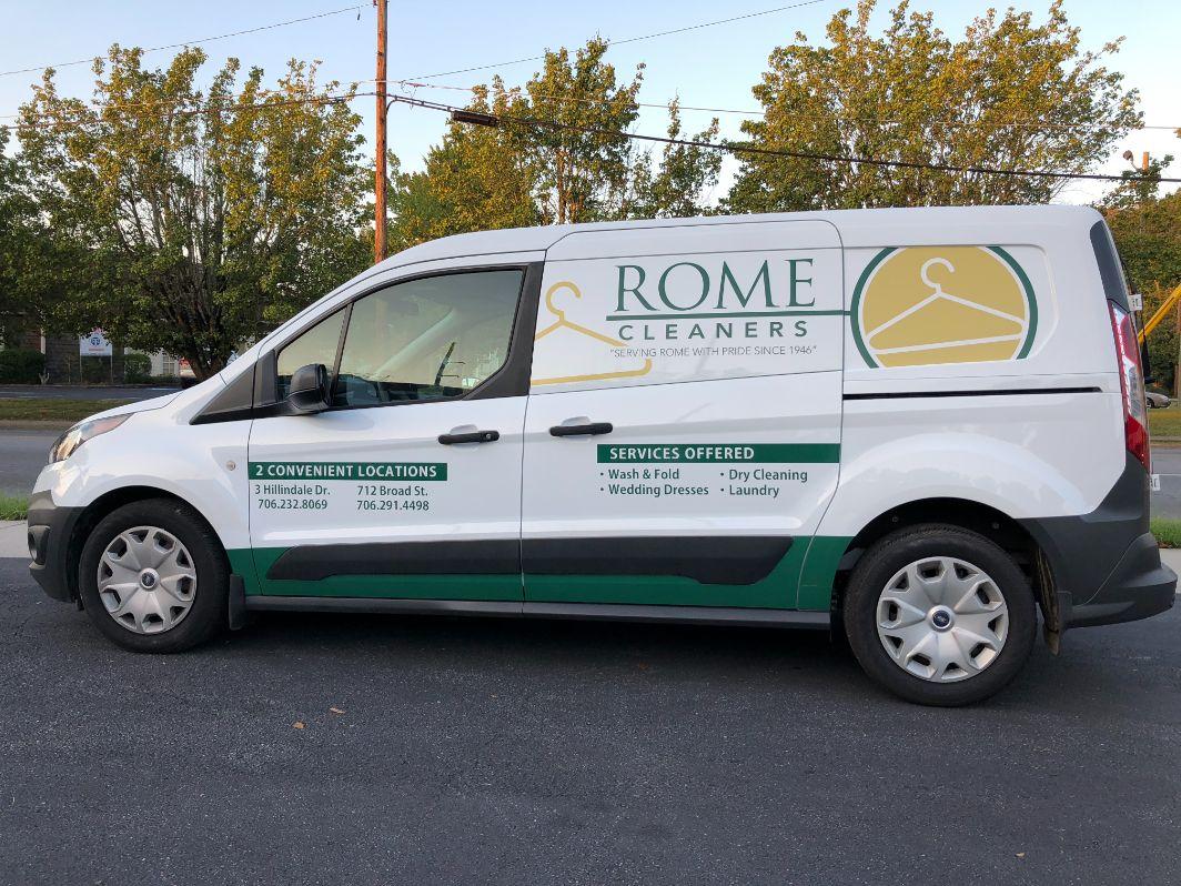 rome cleaners van wrap