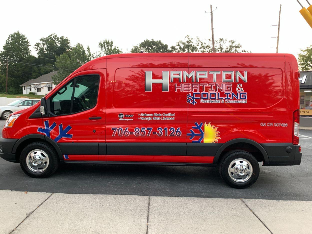 hampton heating and cooling van wrap