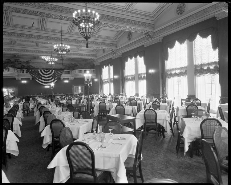 Old banquet hall at the Saint Paul Athletic Club