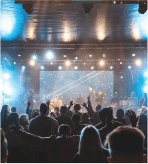 People worshiping at Kingdom Domain Conference