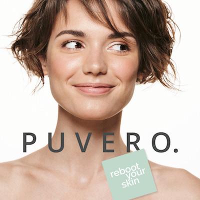 Frau mit tollem Glow und PUVERO Logo