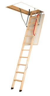 Többrészes összecsukható padláslépcsők fa létraszárral