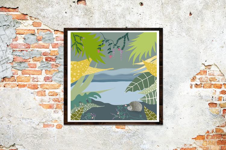 Egel in landschap