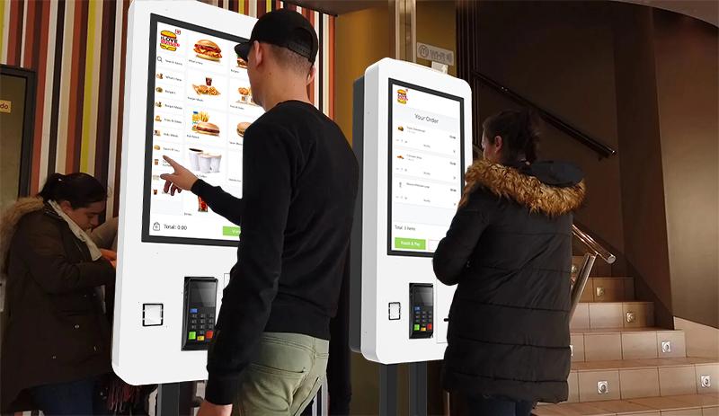 Self ordering kiosks