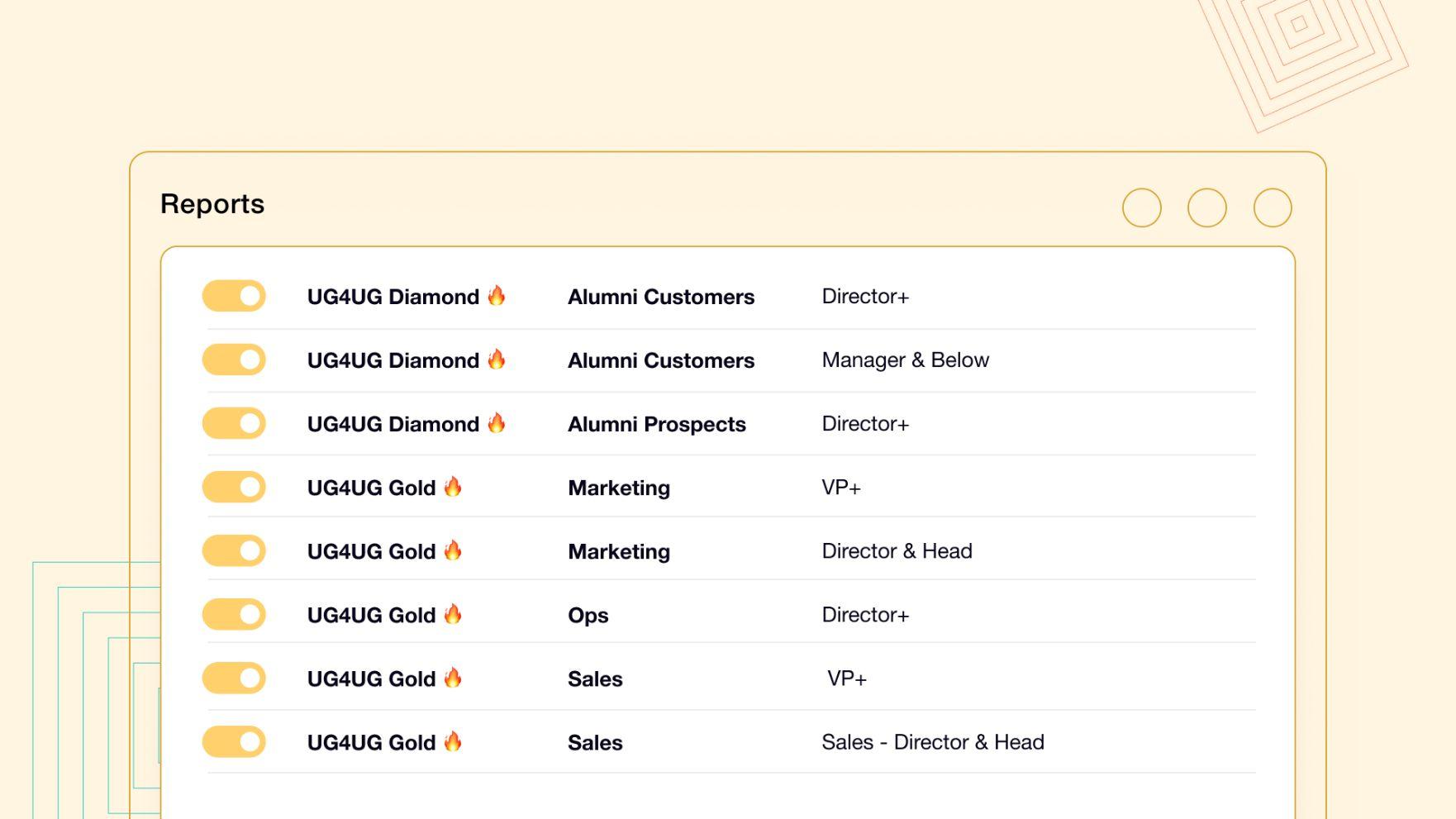 UserGems track job changes reports