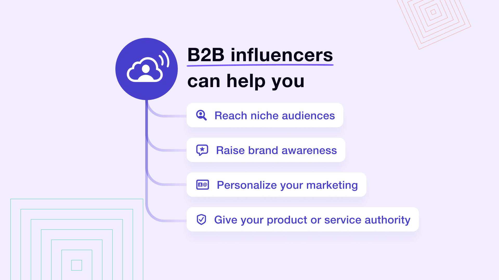 B2B influencer maketing benefits
