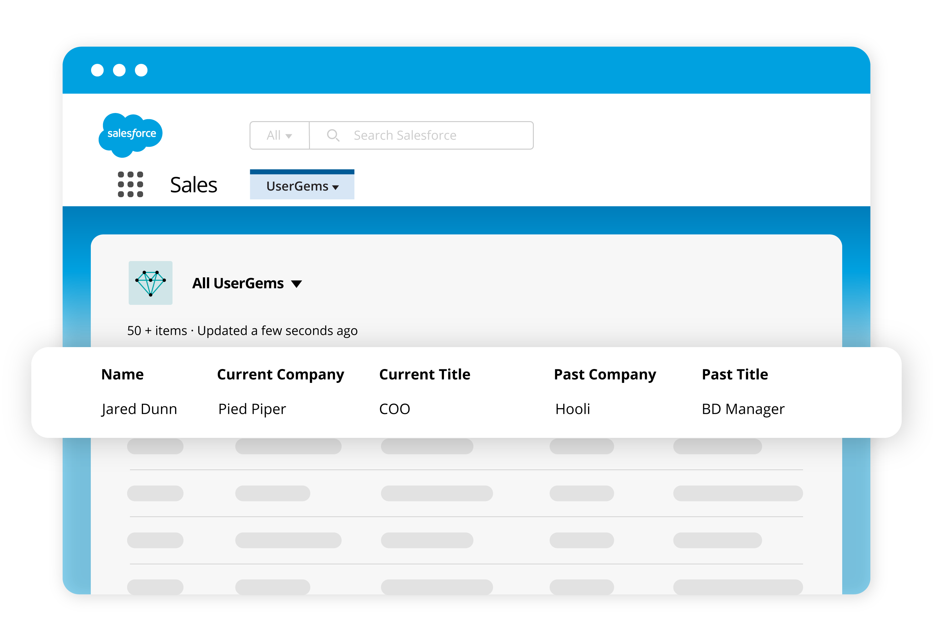 UserGems lead list in Salesforce