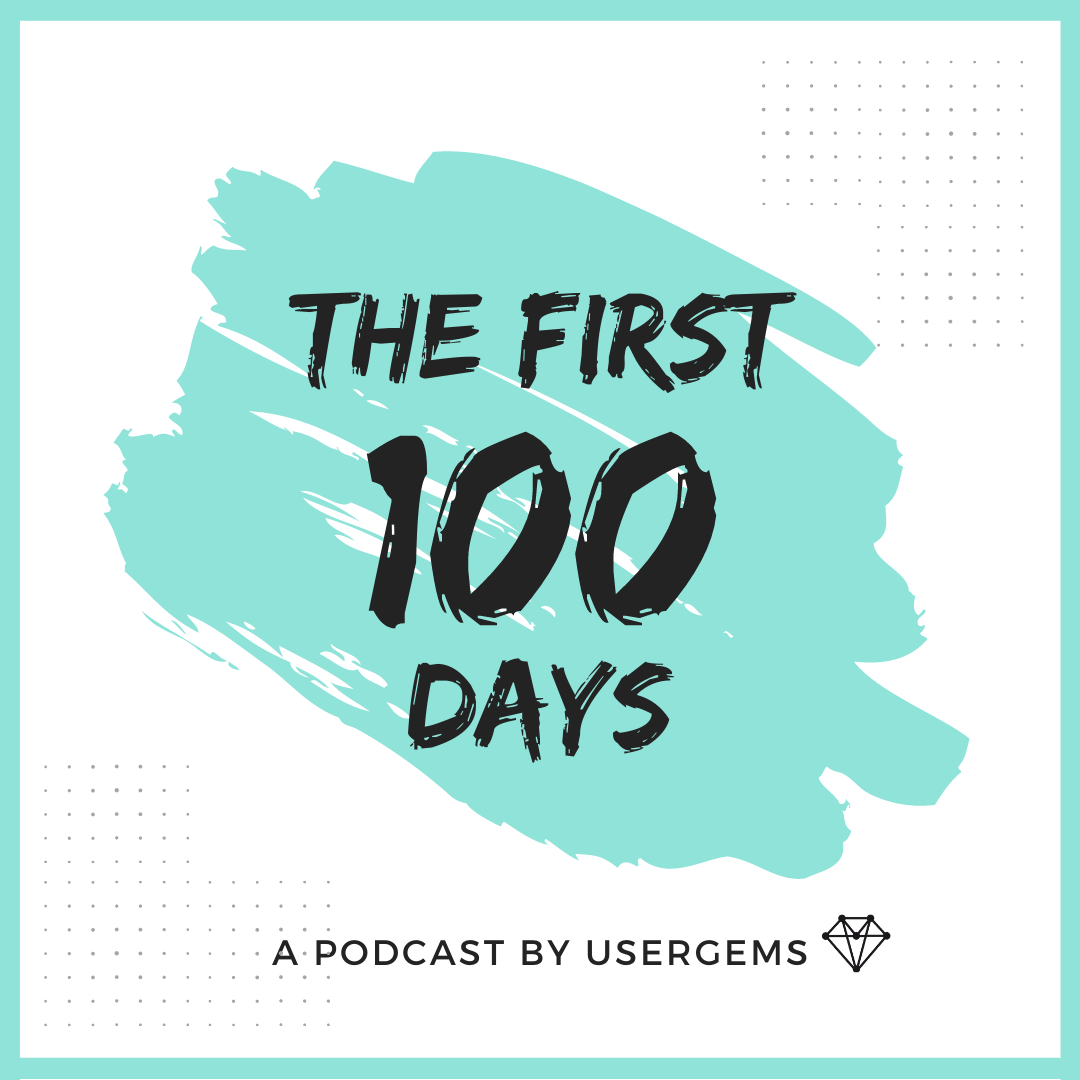 "Logo of ""The first 100 days"" podcast"