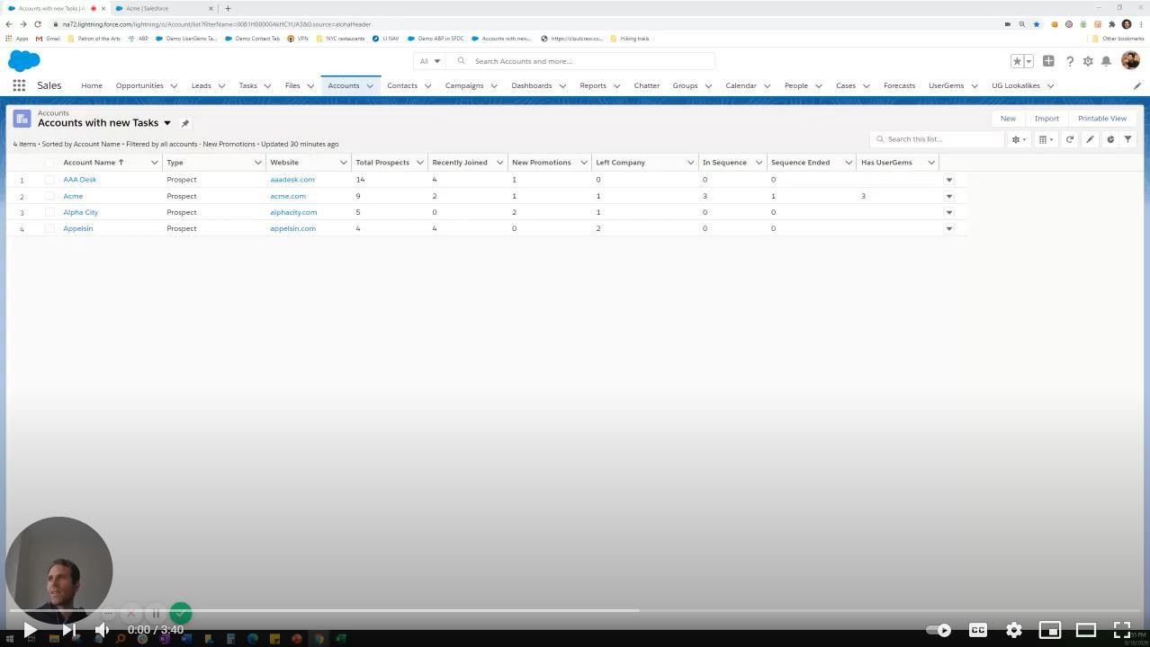 UserGems Account Tracking demo video thumbnail
