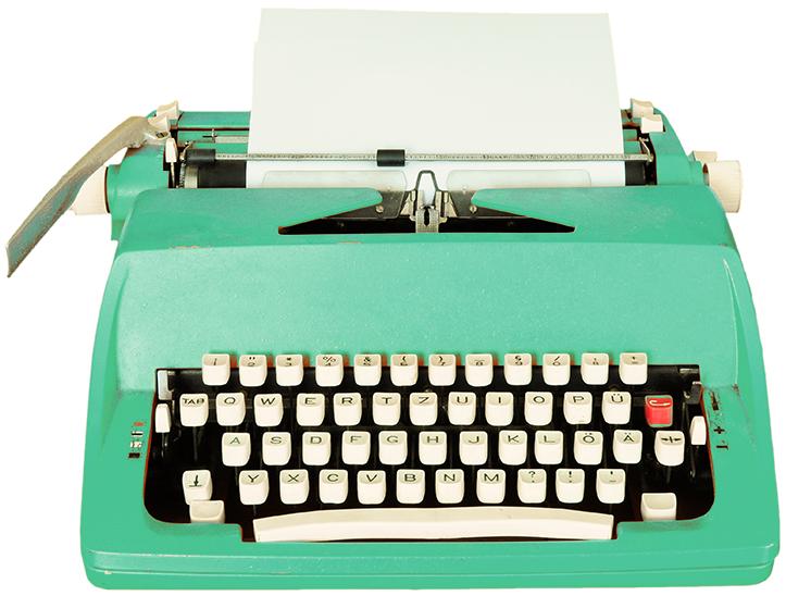 Image of antique typewriter