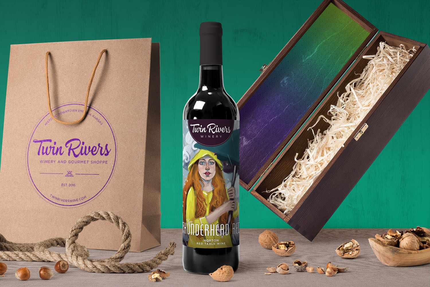 Twin Rivers Winery Brand Identity
