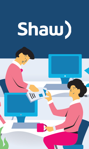 As part of a launch to add additional features to Shaw Communication's service management infrastructure, a marketing video was created to excite employees about the benefits of actively participating in service management.