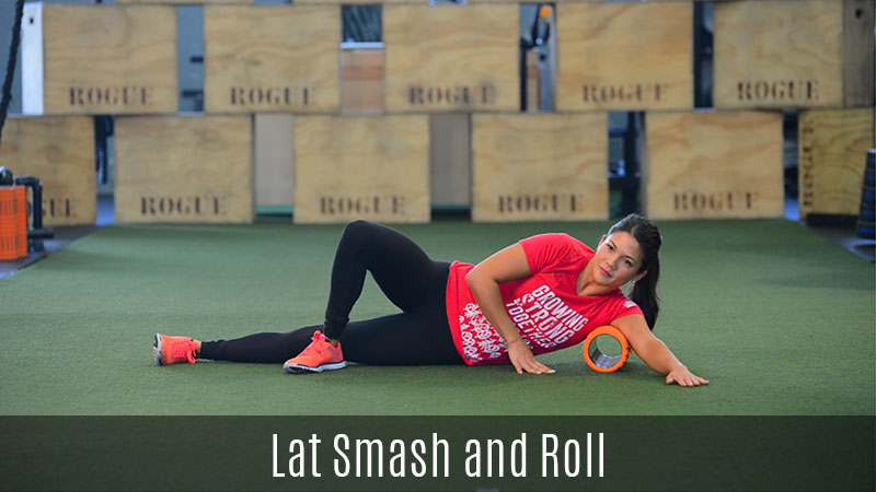 lat smash foam roller demo