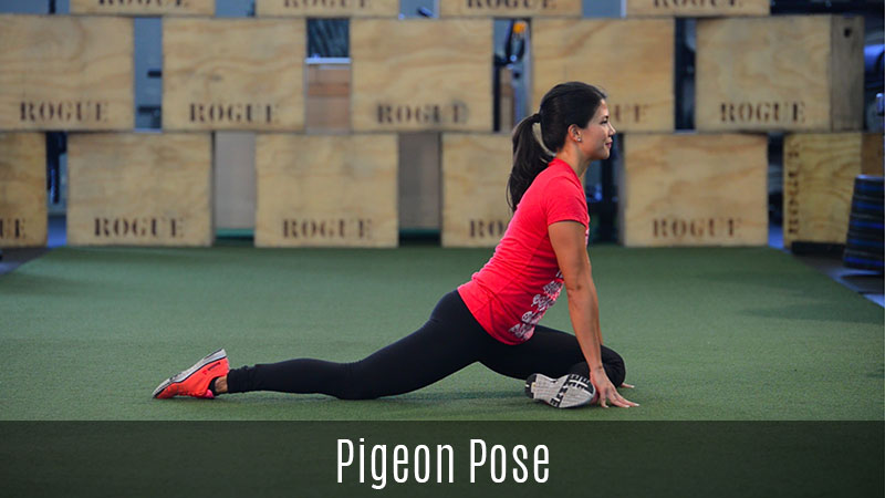 pigeon pose stretch demo
